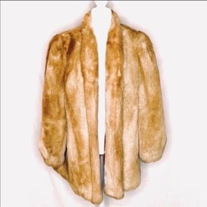 Stunning!! Vintage Outerlayers Faux Fur Coat